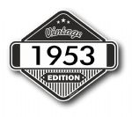 VIntage Edition 1953 Classic Retro Cafe Racer Design External Vinyl Car Motorcyle Sticker 85x70mm